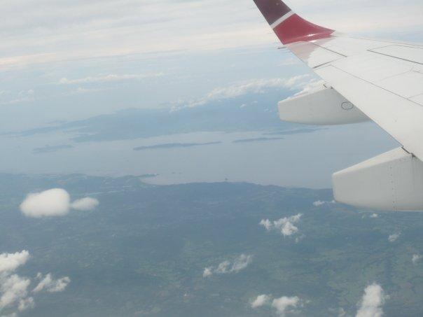 volando sobre centroamerica