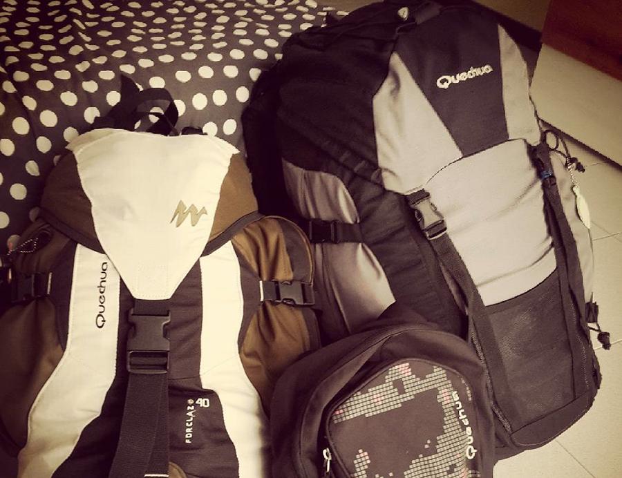 mochila de viajes