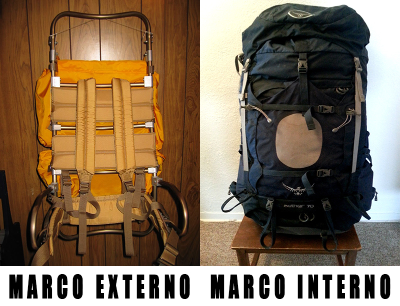 mochila marco externo interno