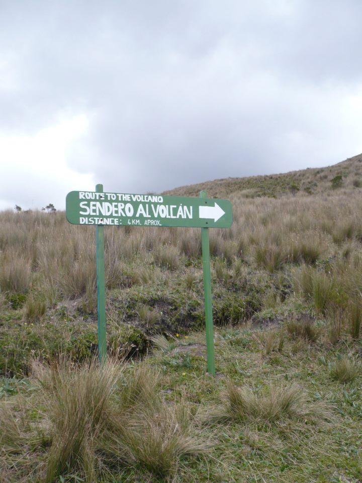 Sendero al volcán Rucu Pichincha