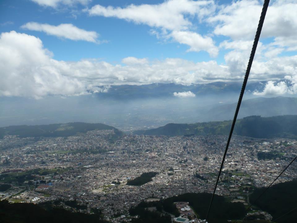 Vista de Quito desde la cabina