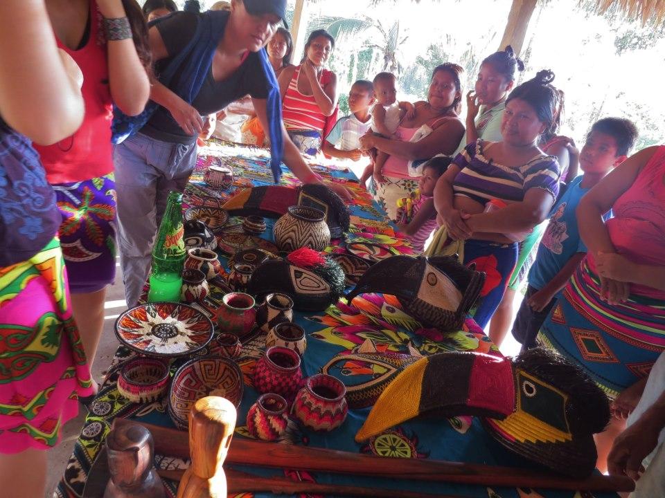 venta de artesanias en Darién, Panamá