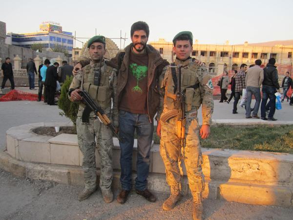 Con la Permeshga, fuerzas del orden del Kurdistan iraki