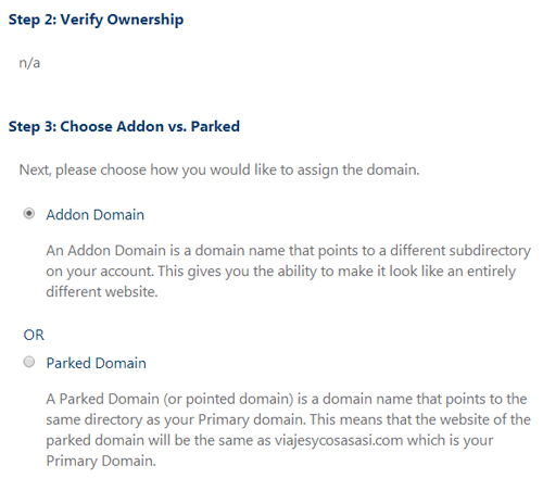 Assign Domain bluehost 2