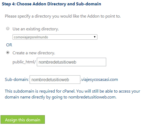 Assign Domain bluehost 3