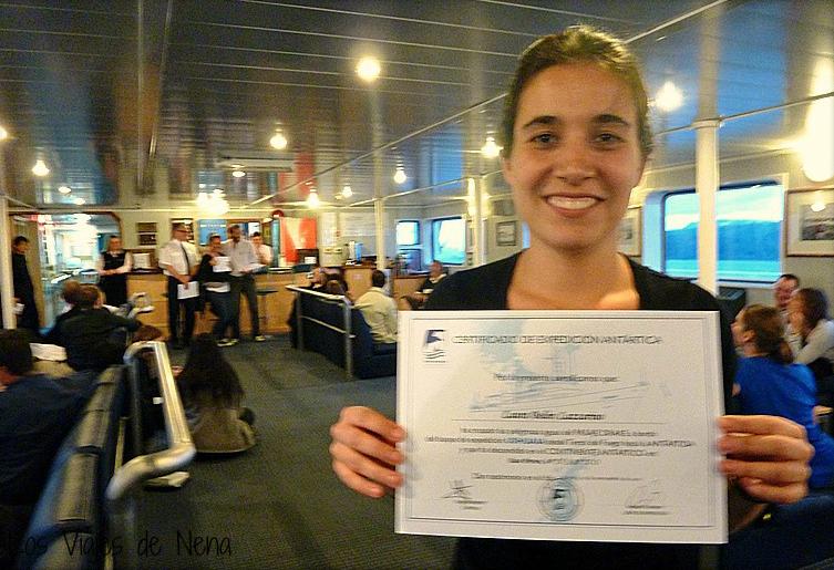 Todo viaje a Antártida termina con un diploma