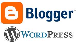 Logo de Blogger y WordPress