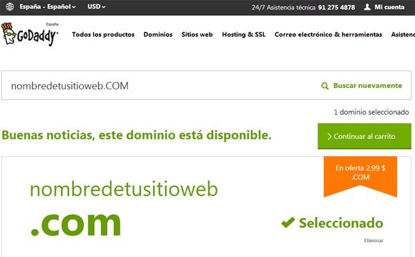 godaddy dominio disponible
