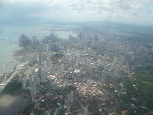 Ciudad de Panamá desde el aire