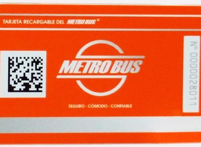 Tarjeta del Metrobus