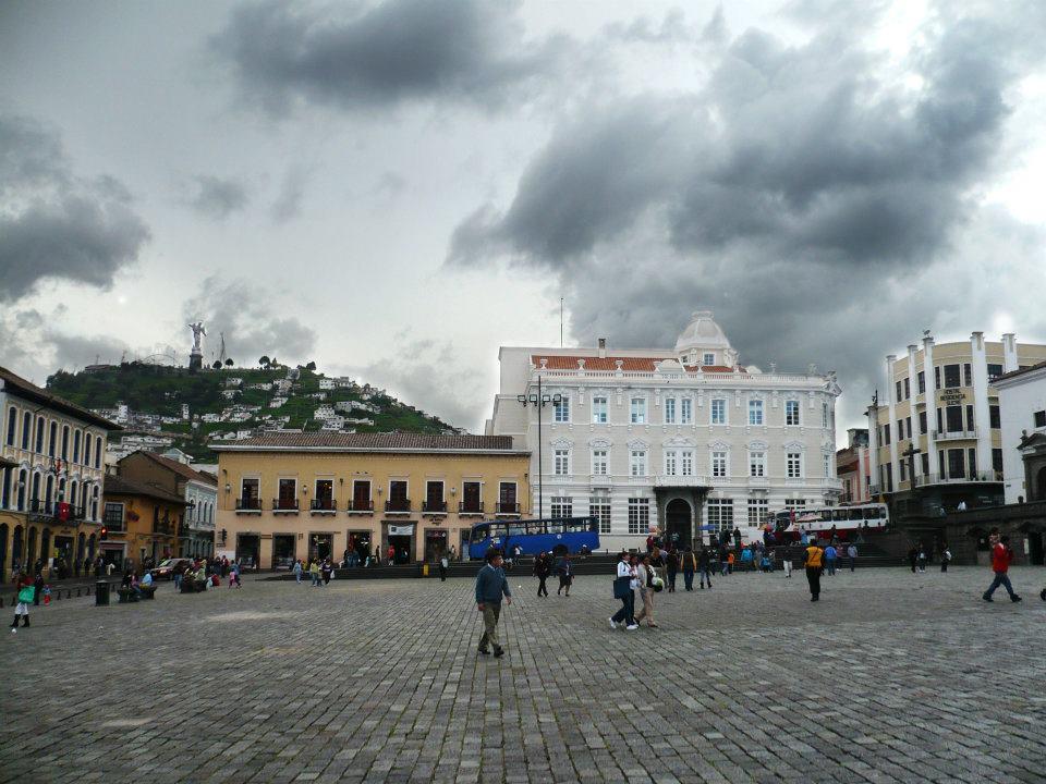 Foto del centro histórico de Quito cuando estuve haciendo voluntariado en esta ciudad.