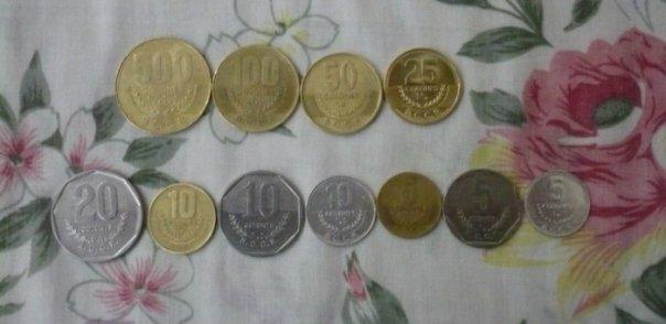 Monedas costarricenses