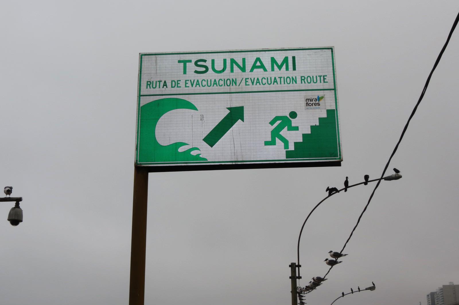 aviso de evacuacion de tsunami