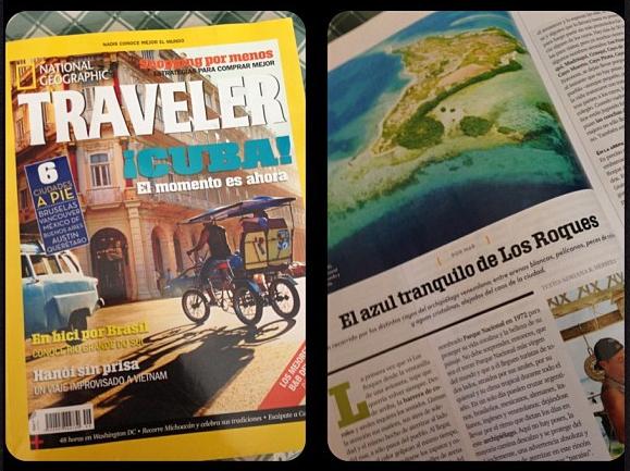 El azul tranquilo de Los Roques, artículo que Adriana Herrera escribió para el diario NGTraveler