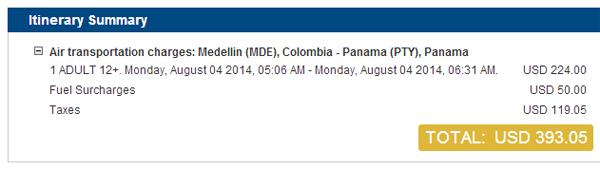 Precio de Medellín - Panamá con Copa Airlines